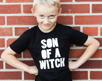 Kids Witch Shirt - Funny Kids Halloween Shirt -  Glow In The Dark Halloween Shirt - Halloween Kids Shirt - Boys Halloween Shirt - Boys Witch