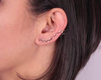 Ivy Ear Climber / Boho Ear Climber / Ear Cuffs