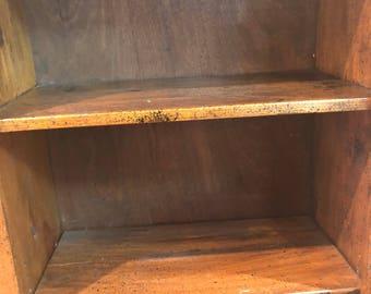 6 shelf wooden bookshelf