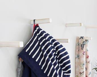 Rustic White Oak Coat Hooks   Straight   Coat Hook   Wall Hooks   Universal Wall Hook ***New Product***