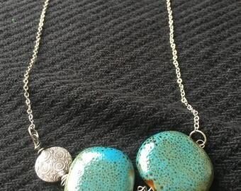 Long Aqua Stone Necklace