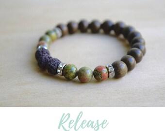 Unakite Bracelet / yoga gift for mom, balance bracelet, energy bracelets, nature inspired, treat yo self, gift for yoga mom, best yoga gifts
