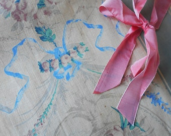 Historical French Fabric Piece Antique 1800s or Earlier