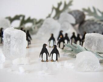 Penguin Earrings, Penguin Studs, Wooden Earrings, Unique Jewellery, Handmade Earrings, Unique Earrings, Wooden Gift for Her, Stocking Filler