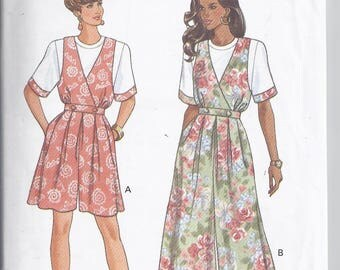 Butterick 6134 Sewing Pattern from 1992.   Misses Top and Culotte Dress   Bust 30 1/2-32 1/2  UNCUT