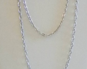 Sarah Coventry Silver Tone Layered Chain Necklace