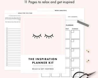 Inspiration Planner: Printable Organizer - Daily Organizer  - Letter Size Planner