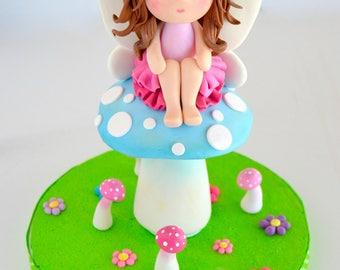 Polymer clay fairy fairy figurine fairy cake topper