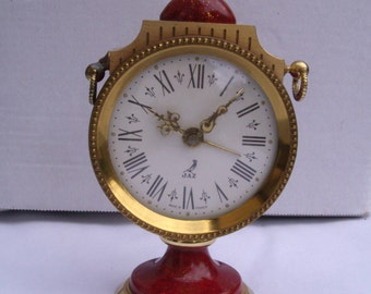 French Vintage  Jaz Mechanical Alarm Clock. Made in France 1960s.