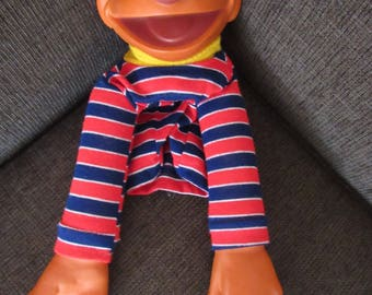 Vintage Ernie Puppet Sesame Street Muppets Free Shipping