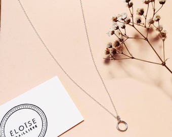 Necklace circle minimalist, minimalist necklace, circle necklace, sterling silver necklace, silver necklace, simple necklace, circle necklace