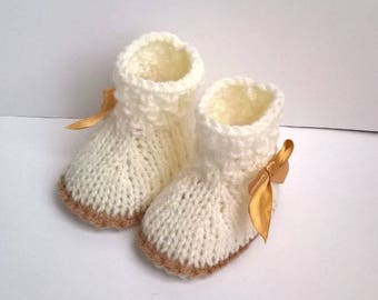BOOTIES baby shoes 0/3 months joint boy girl, newborn gift idea