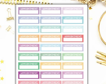 40% OFF SALE Appointment Planner Stickers, Appointment Stickers, Functional Planner Stickers – Will Fit Any Planner– 0739