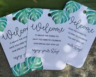 WELCOME WEDDING TAGS / Favor Bag Wedding Tags / Wedding Welcome Tags / Wedding Favor Bag Tags / Wedding Tags / Guest Bag Tags / Wedding Tags