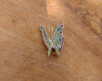 Vintage Butterfly Brooch - MUVA - Abstract - Gold - Insect Jewelry