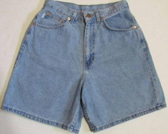 Vintage High Waisted Light Blue Denim Shorts Size 26