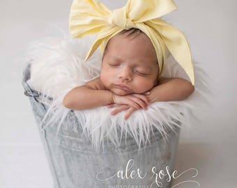 DAFFODIL Gorgeous Wrap- headwrap; fabric head wrap; head wrap; boho; newborn headband; baby headband; toddler headband; bow