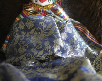 Rajasthani Puppet/Doll (lady, blue/silver)