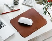 Leather Mouse Pad, Mouse Pad, Personalized Australian Gift, Key Phone Mat Pad, Mousepad, Corporate Gift, Full Grain Cow Leather, Custom