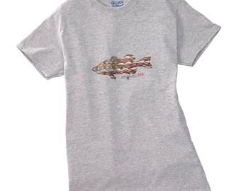 Anglers Kid Tee, Kids Tee, Kids Tee Shirt, Kids Fishing Tee, American Theme, Girls Tee Shirts, Boys Tee Shirts, Kids Bass Fishing Tee, grey