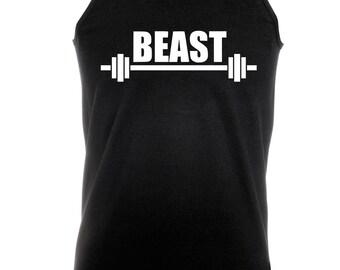 Beast -  Bodybuilding Motivation Black Men's Clothing Workout Vest TOP MMA