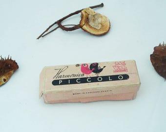 Vintage Harmonica PICCOLO- Czechoslovakian Harmonica - Old Harmonica Piccolo- Old Musical Instrument-Collectable - Retro Harmonica-Gift Idea