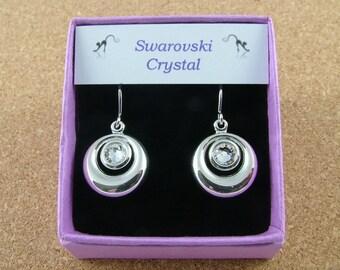 Swarovski Crystal birthstone circular earrings