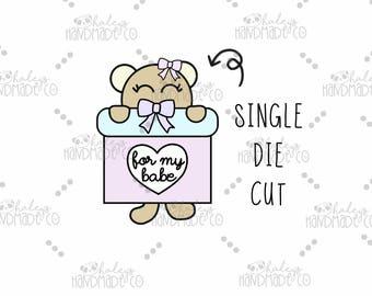 Teddy Girl 'For My Babe' Die Cut