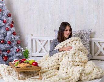 Blanket, Chunky Blanket, Chunky knit blanket, Blanket, Merino wool Blanket, Chunky wool, Chunky yarn, Super Chunky blanket