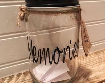 Memory jar;Gratitude Jar;New Year's Eve;Blessing Jar;Inspirational Keepsake;Thankful Jar;New Year's Eve Decorations;2017 Memory Jar
