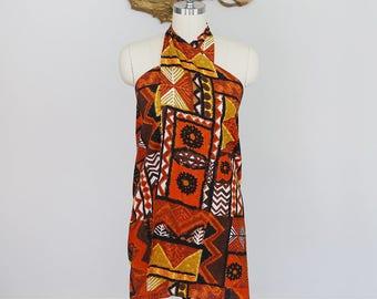 Vintage 1970's Royal Hawaiian Tunic Wrap Skirt/Dress