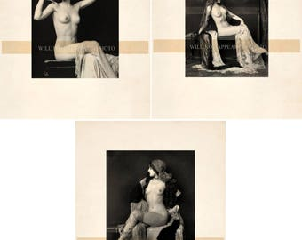 Lot of 3 Vintage Ziegfeld Follies Vintage Photograph Reprint Vintage Photo