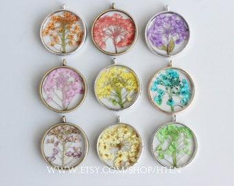 Dried flower pendant etsy 1pcs 25mm handmade dried flowers pendant really flower pendant charms real flower diy resin mozeypictures Images