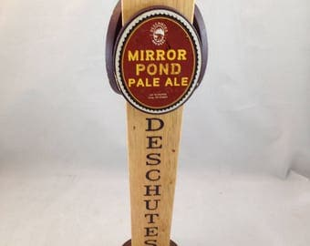 Deschutes Mirror Pond Pale Ale 3 Sided Beer Tap Handle        01427