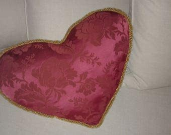 Custom love pillow Valentine's day red and gold