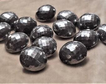 14 Cut Steel Buttons