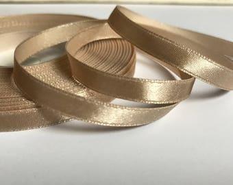 Champagne ribbon Gift wrapping, Satin ribbon trim, champagne ribbon, Wedding decorations, Invitation card