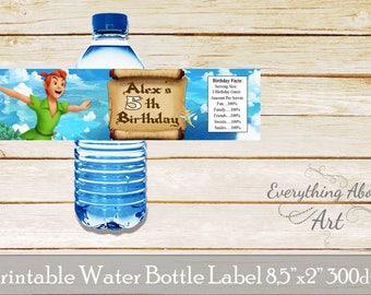 Peter Pan water bottle labels, Peter Pan birthday party, Peter Pan theme, Neverland birthday party, Peter Pan  birthday party supplies