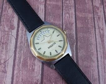 Vintage watch made in USSR in 1980s Raketa