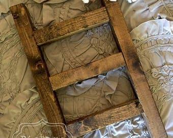 Tea Towel Ladder   Small Blanket Ladder   Kitchen Towel Holder   Farmhouse Decor