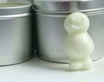 scented 100% natural soy Wax melts wax tarts  scented popwax people shaped wax melts Tin of 8 melts  Hand made