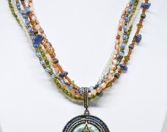 Lovely Multi Strand Beaded Necklace