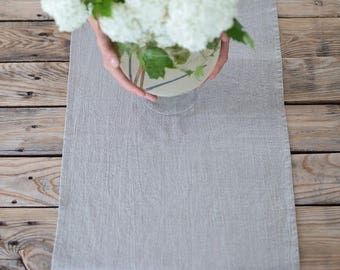 Linen table runner, Wedding table runner, Farm table runner, Gray burlap table runner, Rustic runner, Long table runner, Holiday centerpiece