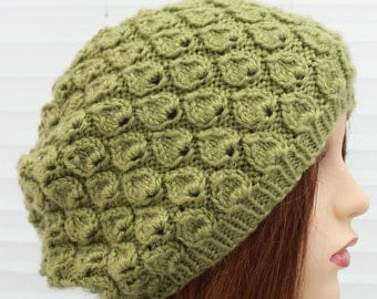 """instant download """"bonnie"""" knitted ladies  beanie  slouchy hat, hpk24"""