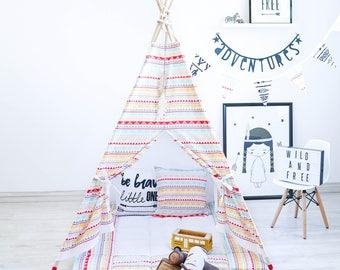 Teepee Tent, Kids Teepee, Canvas Teepee, Teepee Set, Play Tent, Play Teepee,Play House, Kids Wigwam, Teepee, Tee Pee Tent, Kids Tipi, Wigwam