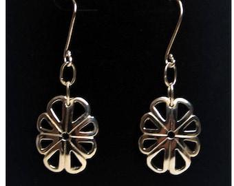 15. Earrings - Sterling Silver Scallop Design