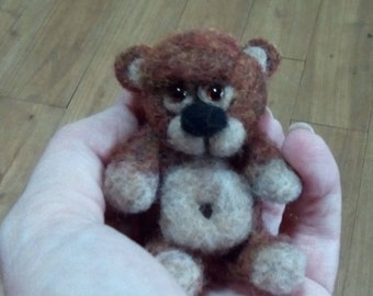 Needle felted cute little bear