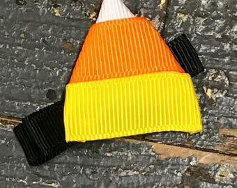 Hair Clip Ribbon Sculpture Headband Bow Holiday Halloween Candy Corn