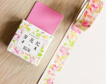 Cute washi tape - violet flowers - infeel me | Cute Stationery