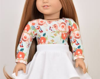 UnEven Skirt  18 inch doll clothes color Ivory